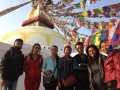 Group at Boudha