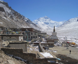 View of Everest from Rongbuk